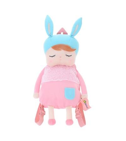 Plecak personalizowany z uszami Metoo Angela Różowy