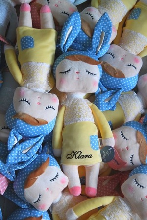 Metoo Angela Personalized Bunny Doll in Yellow Dress