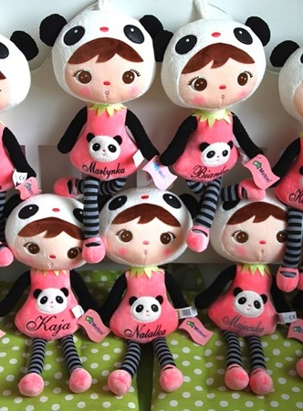 Metoo Personalized Panda Girl Doll