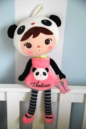 Metoo Personalized Panda Girl Doll