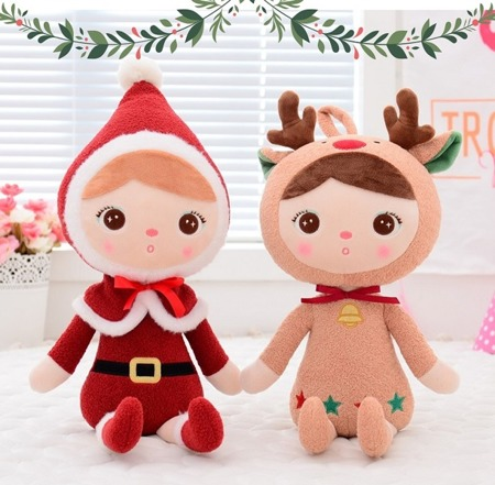 Metoo Personalized Santa Claus Girl Doll