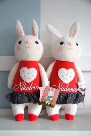 Metoo Personalized Tiramisu Bunny Heart