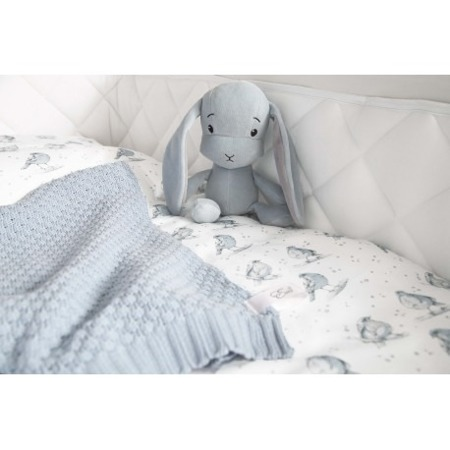 Personalized Bunny Effik L - Blue with Gray ears 50 cm