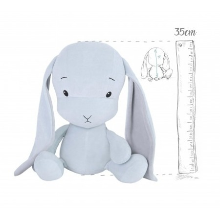 Personalized Bunny Effik M - Blue with Gray ears 35 cm