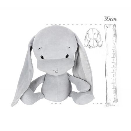 Personalized Bunny Effik M - Gray + dots by Małgosia Socha 35 cm