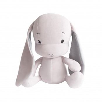 Personalized Bunny Effik M - Pink with Gray ears 35 cm