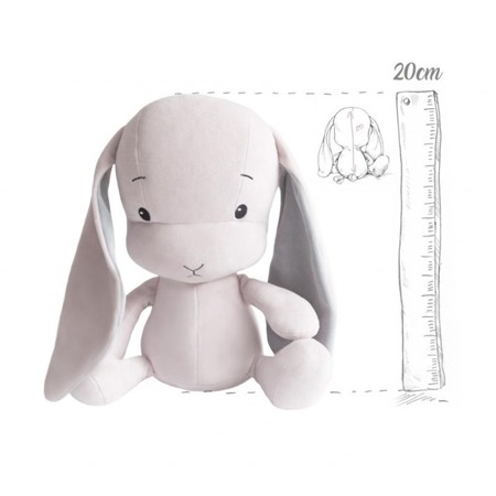 Personalized Bunny Effik S - Pink with Gray ears 20 cm