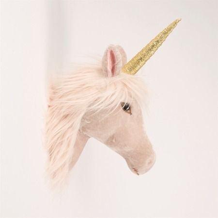 Velveteen Magical Unicorn Head Wall Decoration